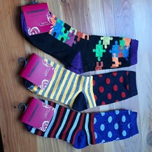 Everbright fun new socks Size 9-11
